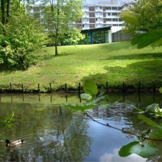 Genießen Sie die Ruhe in unserem Park.