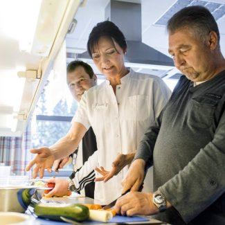 In unserer Lehrküche lernen Sie viel über gesunde und schmackhafte Ernährung.
